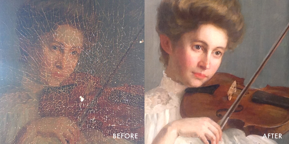 restored painting
